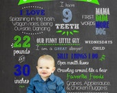 Photo Cut-out Birthday Celebration Chalkboard - Customized to your Little One