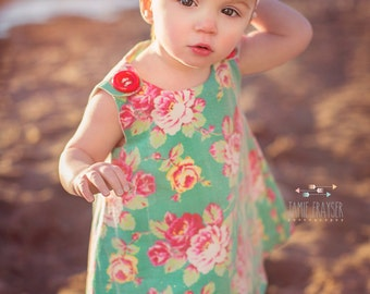 Gift for Her - With a layer of Golden Glitter Tulle - Holiday Dress - Girl Clothing - Family Photo Prop - Newborn Gift  - 3M to 4T