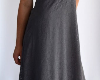 "Dress ""Windrose"" gray, chiffon evening dress, summer"