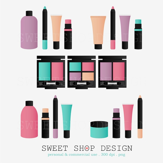 Beauty Makeup Clip Art Bridal Shower Royalty Free Instant Download