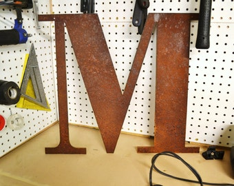 "Rusty Metal Letters 12"" Rustic Sign Letter Vintage"