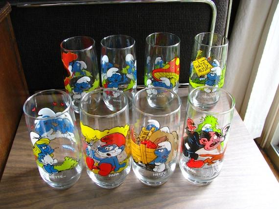 Vintage Smurf Drinking Glasses