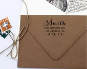Custom Address Stamp - Fancy Cursive Pen Self Inking Return Address Stamp