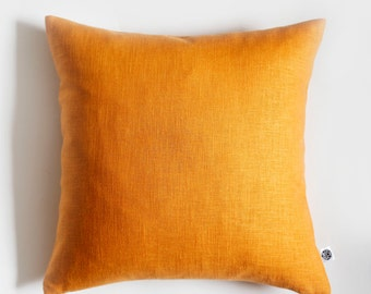 2 yellow pillow covers - linen cushion case - throw pillows - custom size  0086