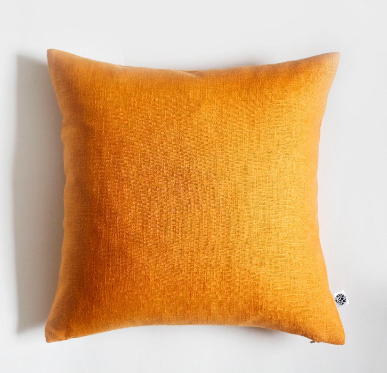 Throw Pillows Us : 2 yellow pillow covers linen cushion case throw pillows