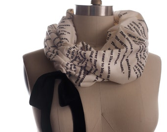 Les Miserables Light Weight Summer Book Scarf