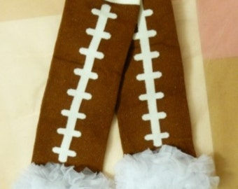 Football Leg Warmers with Ruffle, Ruffled Leg Warmers Infant, Baby, Toddler, Preteen, Arm Warmers