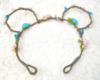 Disney Ears Flower Crown Headband, boho, minnie, mickey, fashion, bark vine, wreath, woodland, rustic, fairytale