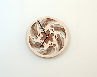 12'' Wooden Wall Clock / Home Decor / Housewares / Clock