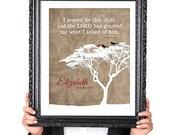 PERSONALIZED ADOPTION Quote Wall Art Print, Adoption Gift, Bird Silhouette, Family Tree Print, Brown 8x10