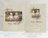 5x7in Christmas Card Template, Christmas 2013 vol10