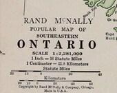 Ontario Vtg Map, 1928