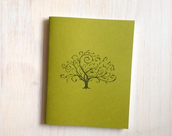 Notebook: Journal, Jotter, Tree, Green, Fall, Autumn, Thanksgiving, Stocking Stuffer, Gift, Unique, For Her, For Him, Small Notebook, A85