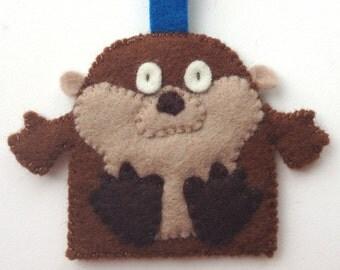 Key Ring Wool Felt Otter Brown