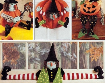 Halloween Witch - Draft Buster Pattern - Witch Jack O Lantern - Witch Pumpkin -  McCalls Fun Craft Patterns 7806