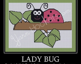 Lady Bug - Afghan Crochet Graph Pattern Chart - Instant Download