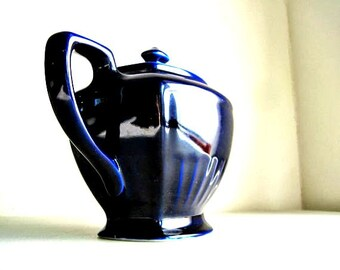 Vintage Hall Tea Pot, Hall Teapots, Navy Blue Teapot, Old Tea Pot, Vintage Tea Kettle, Hall China, 1930's Pottery, China Hall, Hall Pottery
