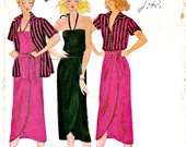Misses Shirt Top Halter Camisole Wrap Skirt Sewing Pattern Nancy Stolkin Butterick 6581 Size 12