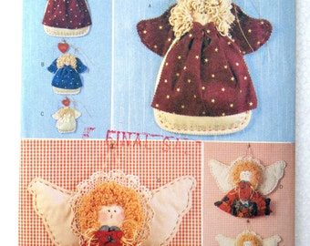 Decorative Angels Christmas Decor Wall Hangings Softies Hickory Stick and Co. Craft Pattern Butterick 4796