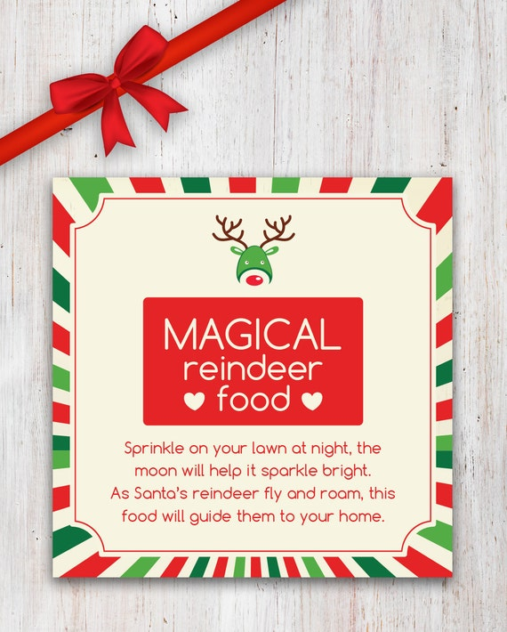 Magical Reindeer Food Printable with Poem by CleverPrintables
