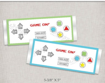 Controller Candy Bar Wrapper Printables - Instant Download