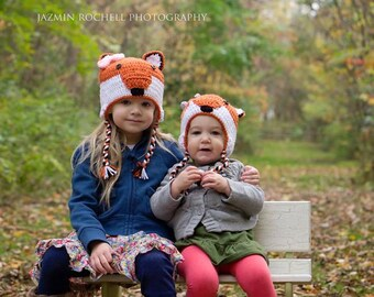 Fox Hat - Girl Fox Hat - Boy Fox Hat - Crochet Fox Hat