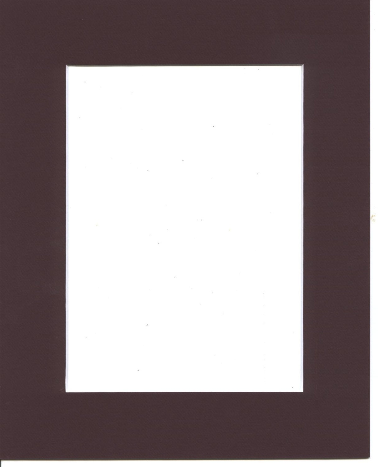 Package Of 10 8x10 Maroon Picture Mats With White Core
