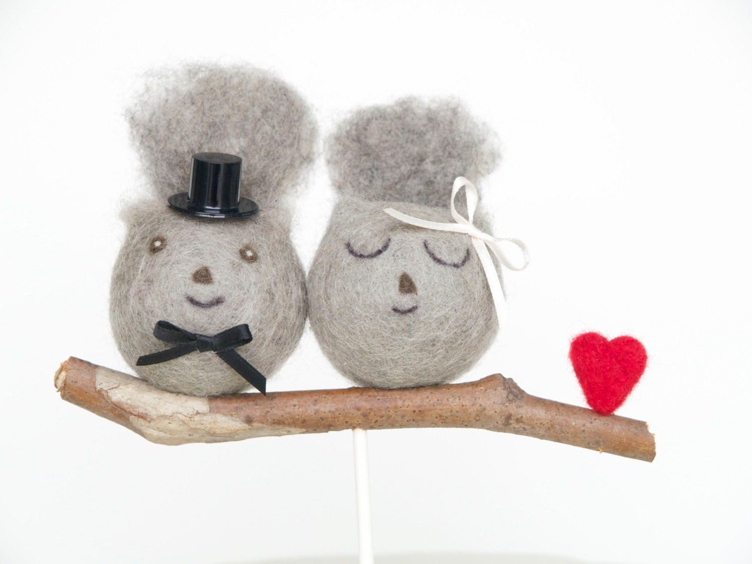 Squirrel Wedding Cake Topper Needle Felted by