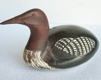 Vintage Loon Sculpture Gustavsberg Sweden by Paul Hoff