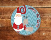 "Cookies for Santa with Reindeer 10"" Personalized Melamine Plate, name or monogram, ADDITIONAL SHIPPING REQUIRED for Christmas Delivery!"