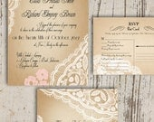 Beautiful lace Invitations - customizable to your color palette