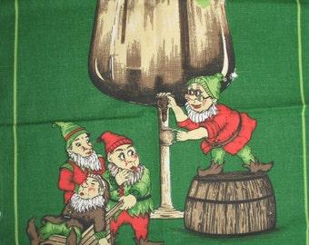 Ireland Souvenir Towel Leprechaun Elves St Patricks Day Tea Towel