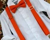 Burnt Orange Solid Texas Longhorns Bowtie & Suspender Set - Baby / Toddler / Child