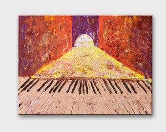 Music canvas art Music painting Piano art Music art canvas Music gifts Musical wall painting Piano wall art Piano acrylic painting gift