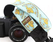 The Santa Fe Blue Camera Strap with Quick Release Buckles -- 1.5 inches wide
