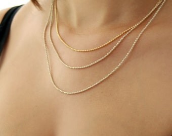 Multi layered chain necklace / gold layered chain necklace / gold layered necklace / birthday gift for her