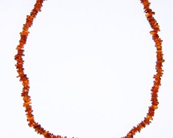 Adult Baltic amber necklace cognac color shape beads 37