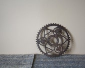 RESERVED FOR JOSIANNE- Rare vintage antique bicycle gear, Industrial decor, Steampunk, assemblages