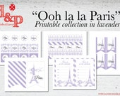 Paris in Lavender Instant Download DIY Printable Collection
