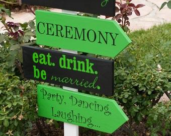 Custom Wedding Directional Sign Wood Arrow Wedding Signs