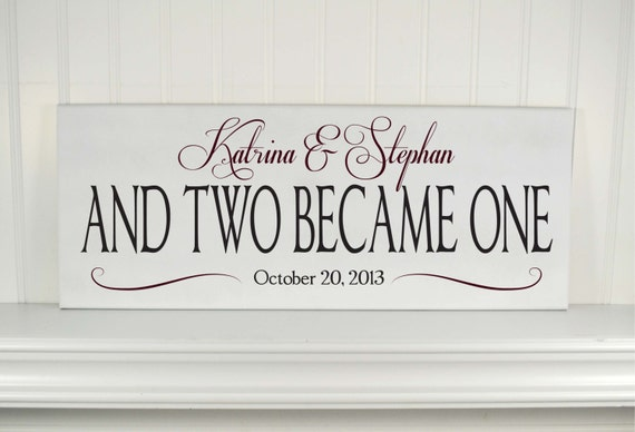 Wedding Sign Personalized Wedding Gift for Couples - Wood Sign with ...