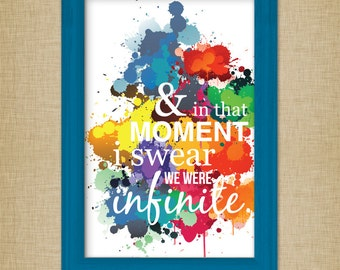 And In That Moment I Swear We Were Infinite - Perks of Being a Wallflower - Paint Splatter Poster