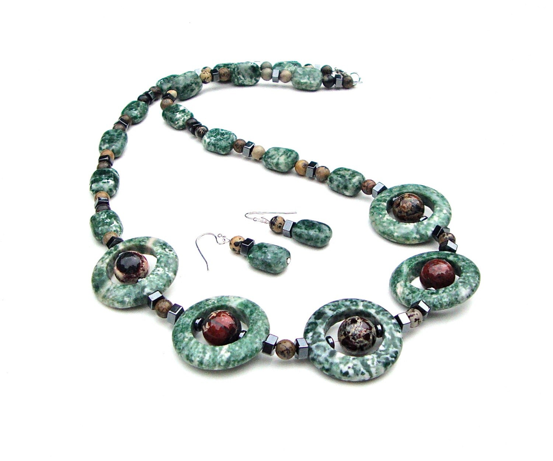 Aliexpress.com : Buy natural green jasper drop earrings ...  |Green Jasper Jewelry