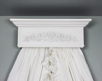 Crib Canopy, Bed Crown, Princess Canopy, Shabby Nursery