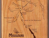 Missouri River Map Fly Bo...