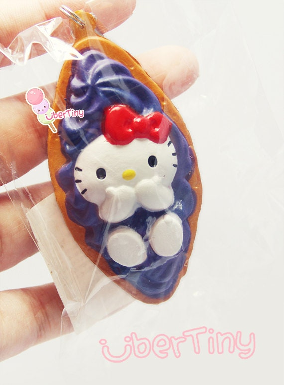 Squishy Sanrio Rare : Super Rare Okinawa Hello Kitty Banana Boat Squishy