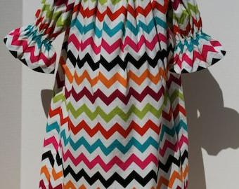 Chevron Peasant Dress size 6