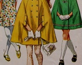 1960s Simplicity 8072 Child's and Girls' Cape and Dress Vintage Pattern