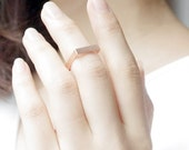 Gold/ Silver/ Pink-gold Square Band Knuckle Ring