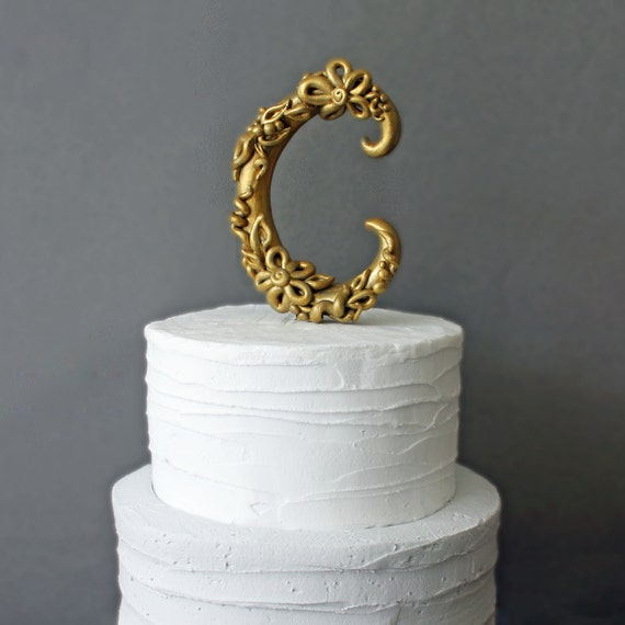 gold wedding cake topper initials 301 moved permanently 14836